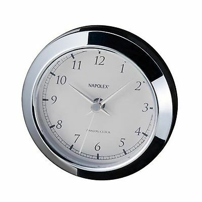 Napolex analog clock for car vehicles silver generic Fizz-885 New Japan F/S