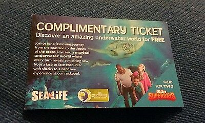 Sea life ticket for 2 people for January 2017 week days