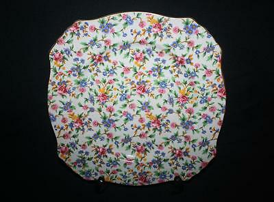 Royal Winton Grimwades Old Cottage Large Plate 10 .75 Inch Sq Superb