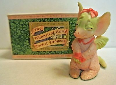 """Musgrave """"pink 'n Pretty"""" Pocket Dragon ~1989 Retired~ Made In Uk"""