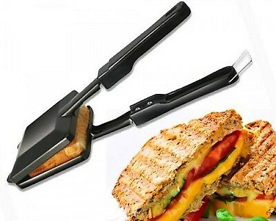 Non Stick Steel Gas Toaster Bread Roasted Classic Sandwich Maker Grill Free Ship