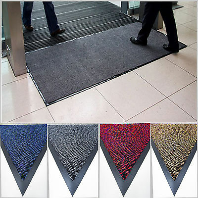 Large Door Entrance Rubber Barrier Back Heavy Duty Non-Slip Washable Mat 90X150