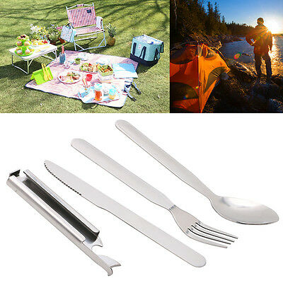 Portable Outdoor Tableware Picnic Spoon Fork Cutter Dinnerware Camping Cutlery