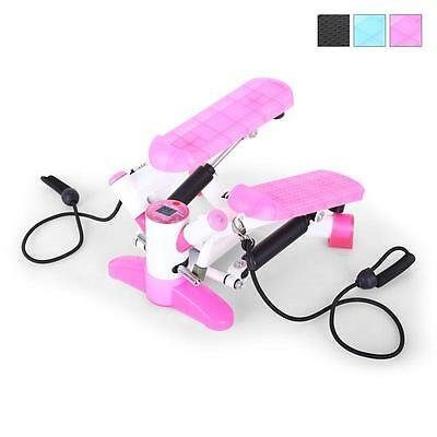 Klarfit Pink & White Power Stepper Suspension Bands 5 Functions Digital Display