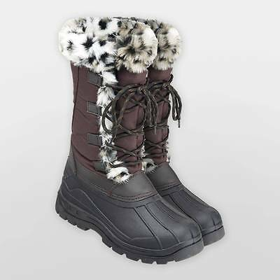 Harry Hall Winter Montblanc Fleece Lined Lace Boots Uk_3