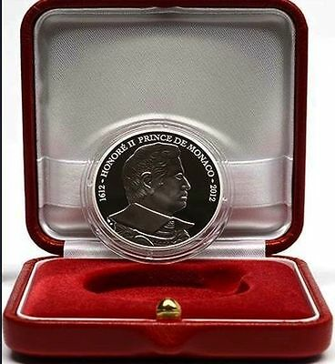 MONACO 10 euro SILVER 2012, HONORE II, MINTAGE 6500 pieces, in box with certif.