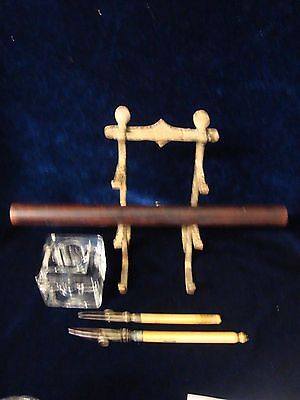Antique Or Vintage Writing Equipment Pen Stand, Ruling Pens Etc.