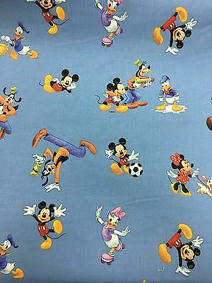 Disney's Mickey & Friends, 100% Cotton Fabric Material For Craft and Dress