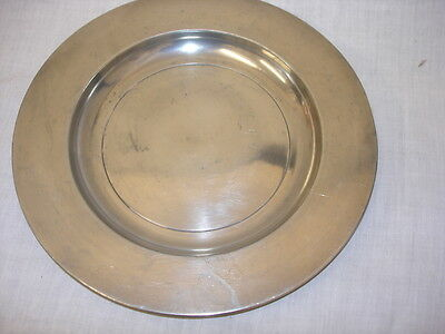 Vintage Classic Pewter Plate 25Cm (Ms)
