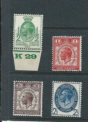 1929 Gb Kgv Postal Union Congress Issue Excellent Mnh Low Value Full Set Of Four