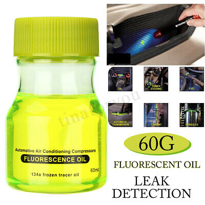 60g Green Fluorescent Oil Leak Detection Leak Test UV Dye for Car A/C Pipeline