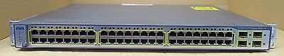 Cisco WS-C3750-48PS-S 48-Port Managed Fast Ethernet Network PoE Switch 3750
