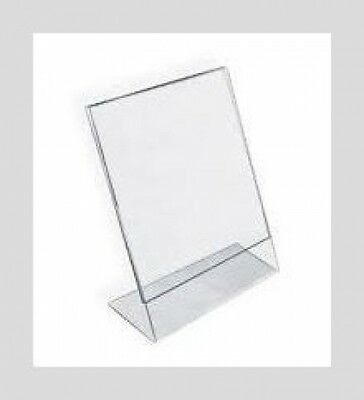 Dazzling Displays 6-pack Acrylic 8 x 10 Slanted Sign Holders