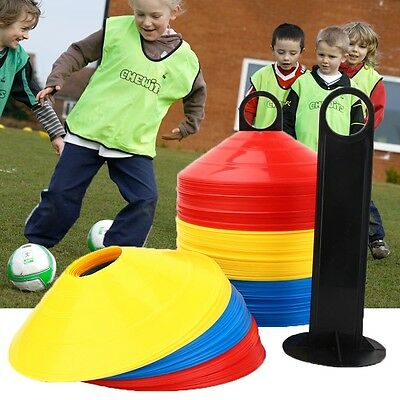 50 Pack Football Sports Training Discs Markers Cones Soccer Exercise Space Mark