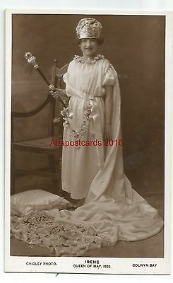 Wales Colwyn Bay Irene Queen Of May 1925 Real Photo Vintage Postcard 07.12