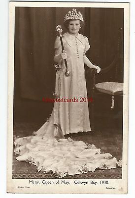 Wales Colwyn Bay Hetty Queen Of May 1938 Real Photo Vintage Postcard 07.12
