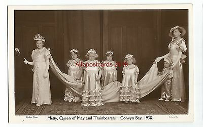 Wales Colwyn Bay Hetty Queen Of May Real Photo Vintage Postcard 07.12