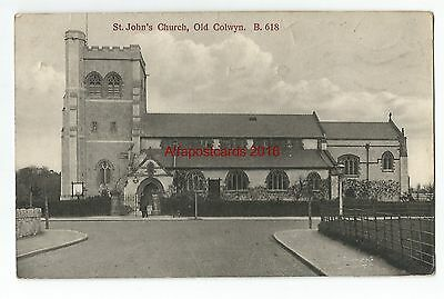 Wales Old Colwyn St Johns Church Vintage Postcard 07.12
