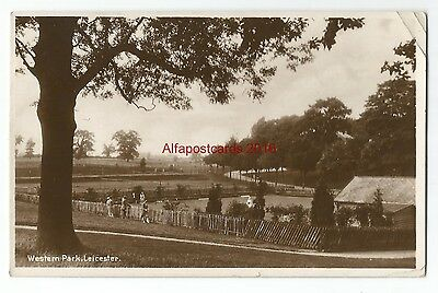 Leicestershire Leicester Western Park Real Photo Vintage Postcard 02.12