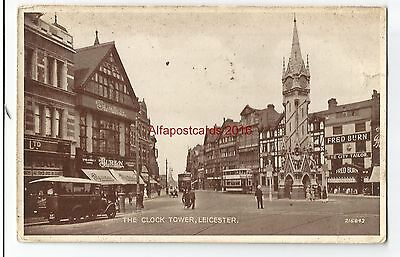 Leicestershire Leicester The Clock Tower Vintage Postcard 02.12