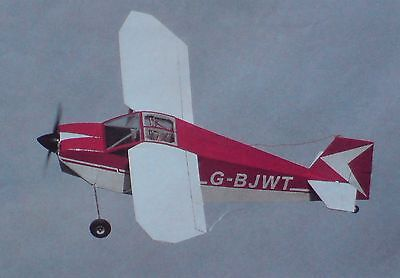 "RC Model Aircraft Building Plan ""WITTMAN TAILWIND W-10 "" 1:6 Scale IC Home-Built"