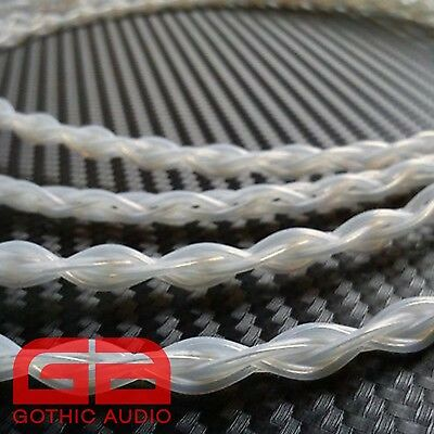 0.5m Length Of 4 x0.4mm (26awg) Diameter Pure Silver Braided Cable
