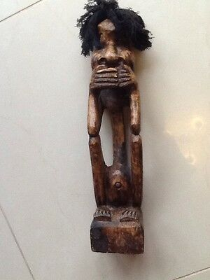 African Wooden Man Carving