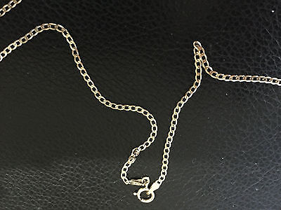 "9ct Gold Hallmarked Curb Chain 22"" with New Bolt Ring"