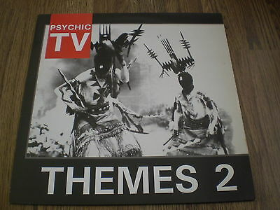 Psychic Tv - Themes 2 Lp 1984 Temple Includes Insert Barely Played Near Mint