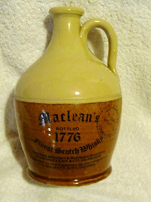 """Stoneware Scotch Whisky Jug """"MACLEANS 1776"""""""