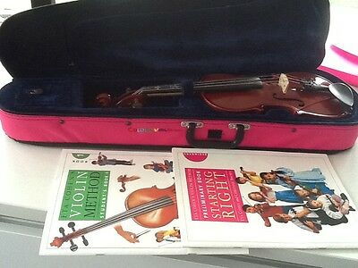 1/2 size Stentor Student II Violin with Case & Starting Books By Eta Cohen