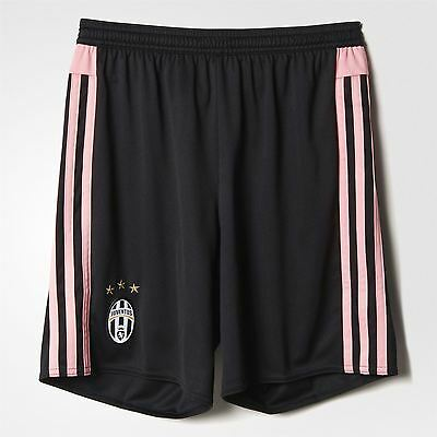 adidas Juventus Away Shorts 2015 2017 Juniors Black/Pink Football Soccer Juve