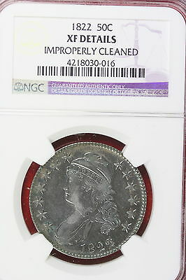 1822 NGC XF Details Improperly Cleaned Capped Bust Half Dollar!! #E3674
