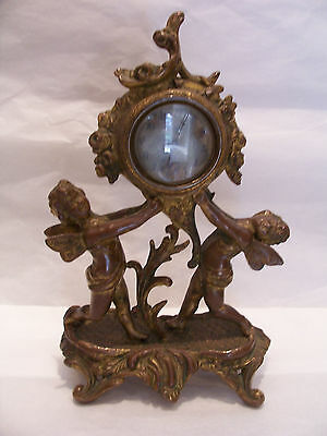 bronze french cherub clock,antique,signed-patented 1890,1891