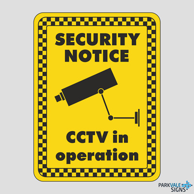 Security Notice CCTV In Operation Sign