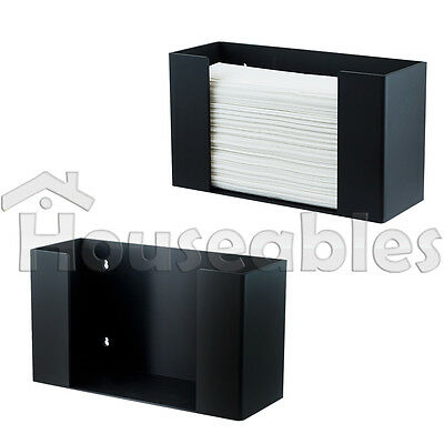 C-Fold Multifold Paper Towel Dispenser Holder Black Acrylic Wallmount/Countertop
