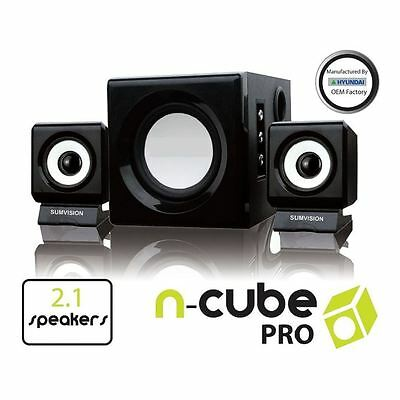 Sumvision N Cube Pro 2.1 Speakers System With Subwoofer For PC Laptop MP3