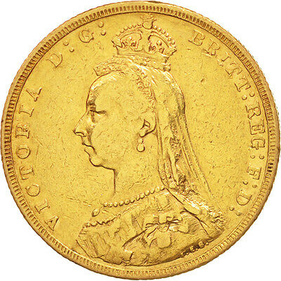 Great Britain, Victoria, Sovereign, 1890, EF(40-45), Gold, KM:767