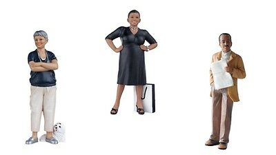 1:12 scale dolls house miniature resin dolls modern people 3 to choose from.