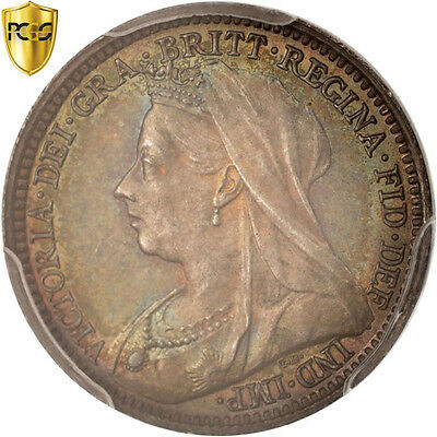 Great Britain, Victoria, 3 Pence, 1899, PCGS, PL67, MS(65-70), Silver, KM:777