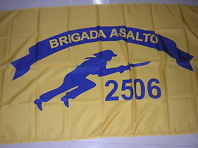 Flag of Brigade 2506 CIA-sponsored group of Cuban exiles 1960 Cuba Ensign 3X5ft