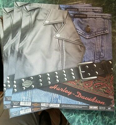 Harley-Davidson apparel collage Motorcycle 12x12 Scrapbook Paper 25 sheets Lot