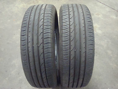215 55 r 18 95h continental contipremiumcontact2 tyres x2       6mm tread