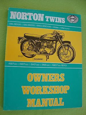 Norton TWINS 500 600 650 750 88 99 77 N15 P11 Atlas Ranger Manual 1957-1970 MINT
