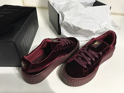 New Puma Rihanna Fenty Velvet Creeper Burgundy Maroon Royal Purple Size 5-10