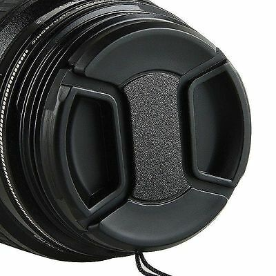 58mm Center Pinch Snap-on Front Lens Cap Hood Cover For Canon Lens With Strap