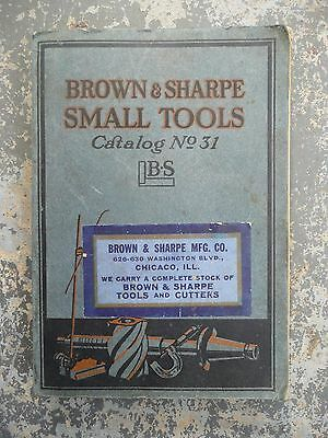 Vintage 1929 Brown And Sharpe Small Tools Catalog No. 31