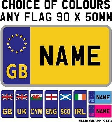 Personalised 90 x 50mm Children Kids Number Plate Sticker Ride on Car Coupe