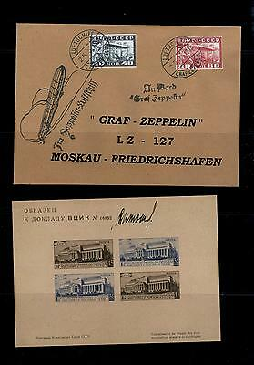 a21) Russia Ministerblock and letter Zeppelin both fake