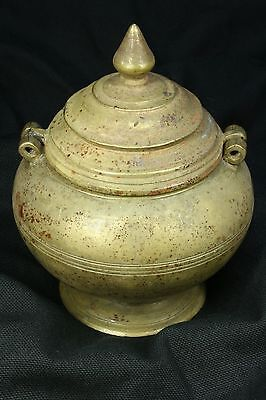 Recipiente Otomano Bronce. Incensario S.XX Bronze Ottoman Container. Censer